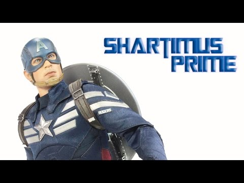 Hot Toys Captain America Stealth STRIKE MMS 242 The Winter Soldier Movie 1:6 Scale Action Figure Rev