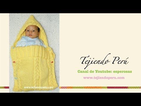 lavorazione a maglia - sacco nanna per bebè