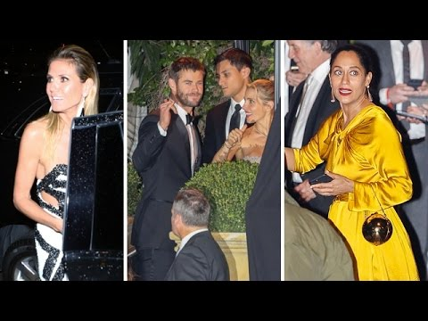 Heidi Klum, Chris Hemsworth, Tracee Ellis Ross And More Attending Golden Globes Party