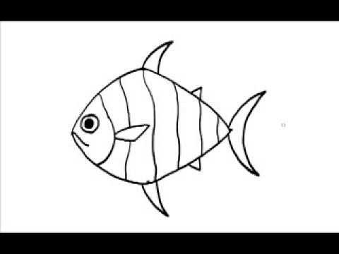 รูปปลา - วิธีวาดรูปปลาอย่างง่ายๆ.