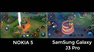 So sánh Samsung Galaxy J3 pro Vs Nokia 5 Chơi Liên Mobile  Nên chọn máy nào???- Fanpage của Kênh Youtube Bacba Channel các bạn có thể like và theo dõi những thông tin mới nhất về kênh cũng như yêu cầu test game câu hỏi kỹ thuật về máy nhé https://www.facebook.com/YoutubeBacba...-----Test điện thoại đăng ký đây nhé ------https://goo.gl/forms/SNOBHM1ANwGanPrg1----------------------------------- Tổng hợp Game Test: https://goo.gl/p6Pqf6- Mobile Legends: Bang bang: https://goo.gl/2EGXQw----------------------------------*** Tổng kết***Mình để video ở đây và không nói gì :))Comment dưới video mình sẽ tập hợp các máy cần test nhiều nhất để làm nhé.- Nhớ like và subscribe ủng hộ kênh mình nhé cảm ơn các bạn nhiều----------------------------------FOLLOW US 👍▶️ FACEBOOK: https://www.facebook.com/YoutubeBacba...▶️ SUBSCRIBE: https://goo.gl/69J20I▶️ GOOGLE+: https://goo.gl/RYW8j5▶️ Twitter: https://twitter.com/ChannelBacba