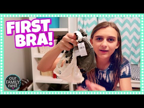 BUYING HER FIRST BRA!