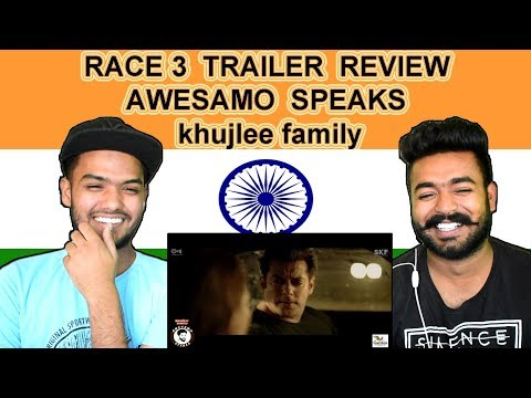 Indian reaction on RACE 3 TRAILER Review BY AWESAMO SPEAKS   khujlee family   Swaggy d