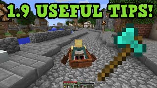 "Minecraft 1.9 - 5 USEFUL TIPS for ""The Combat Update"""