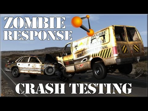 BeamNG Drive Alpha Zombie Response Team Crash Testing HD