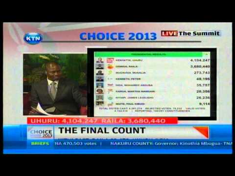 Ageyo - Watch KTN Streaming LIVE from Kenya 24/7 on http://www.ktnkenya.tv Joe Ageyo and John Allan Namu analysing remaining constituencies and possibility of runoff.