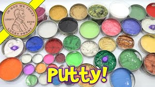 Crazy Aaron's Putty Collection - Over 40 Putties! Thinking Putty Mixing. Finally! I get to check out my collection of thinking putty on ...