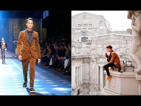 Juan Pablo Zurita, el mexicano que desfiló para Dolce & Gabbana