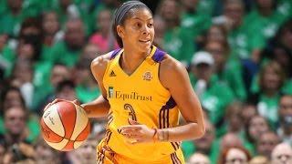 Candace Parker Scores 28; Wins 1st WNBA Title and Finals MVP by WNBA