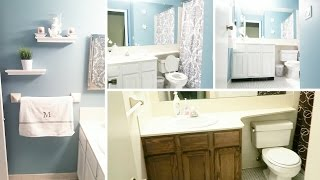 Extreme Bathroom Makeover on a Budget for Under $200.00