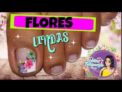 Decorados de uñas - Decoración Uñas Flores-Uñas Turqueza-Decoración Uñas Pies