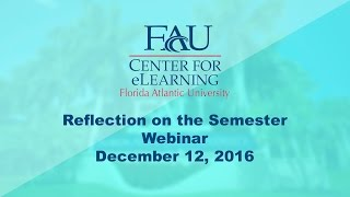 December 12, 2016 Professional Development: Reflection on the Semester