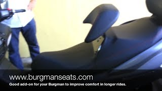 5. Suzuki Burgman 400 - Burgmanseats.com - Backrest Riser Review