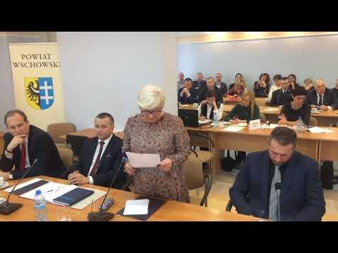 Wideo1: Odczytanie wyników głosowania na funkcję starosty wschowskiego
