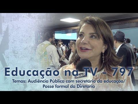 Audiência Pública com secretário da educação / Posse formal da Diretoria