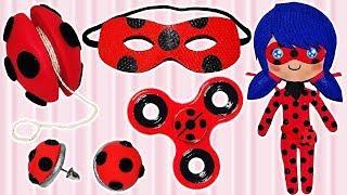 Video 5 DIYS of Miraculous Ladybug (Mask, Yo-yo, Fidget Spinner, Earrings, Doll) MP3, 3GP, MP4, WEBM, AVI, FLV September 2018