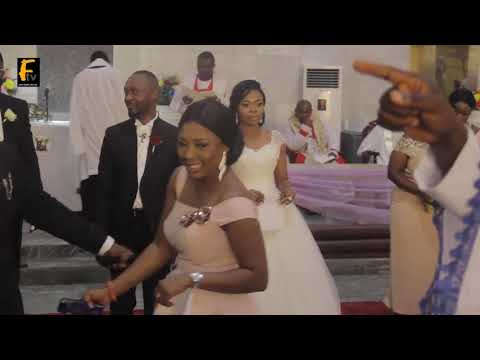 OBA TEJUOSHO MAKES HIS SON ADEDAMOLA AND HER LOVELY WIFE  EXCITED @ WEDDING CEREMONY
