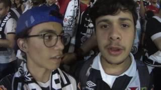 21/09/16 Vasco empata com o Santos por 2x2 em São Januário pela Copa do Brasil e acaba eliminado. Filmei a torcida do Vasco por alguns momentos.