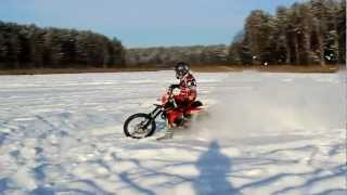 8. Goon riding on ice Husqvarna TC449 #250