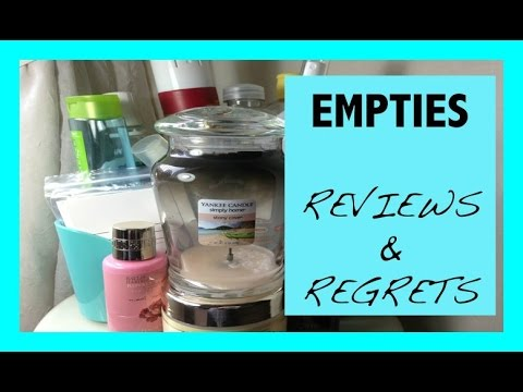 Empties#38 | Reviews & Regrets