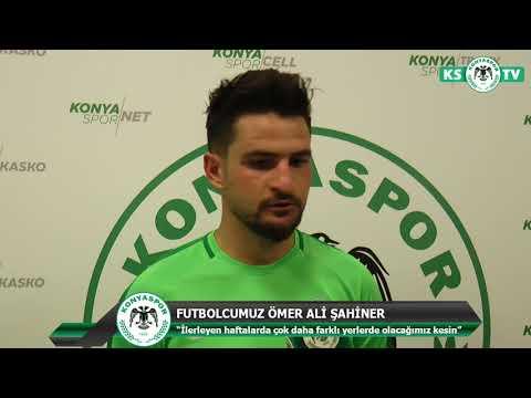 Futbolcumuz Ömer Ali Şahiner: İlerleyen haftalarda daha iyi yerlerde olacağımıza eminim