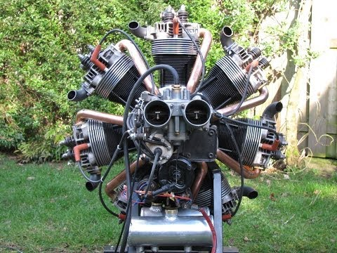 Making and start up of a radial engine of VW parts