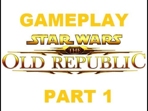 Star Wars The Old Republic геймплей (gameplay) часть 1