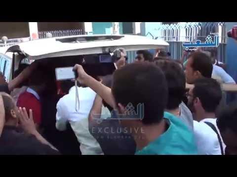 زفة شهداء عرب شركس بالزغاريد أمام مشرحة زينهم
