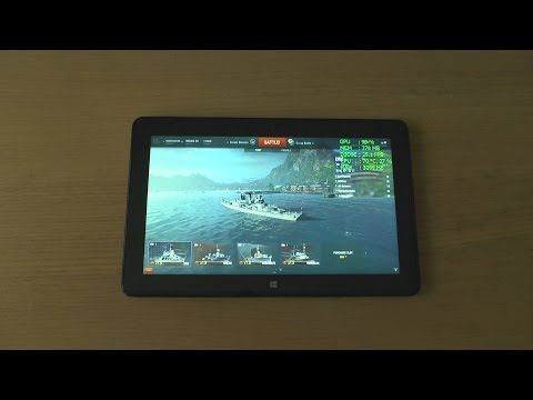 1# World of Warships (PC) test on tablet Dell Venue 11 Pro 7140 Intel Core M-5Y71