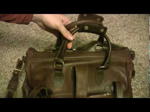 Orvis Spanish Leather Gallatin Gladstone Bag - Made in the USA