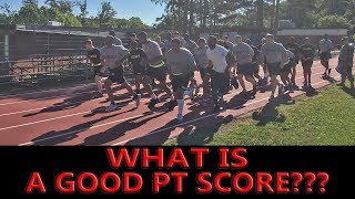 I hope all of you will always keep pushing yourself to get a 300 on the APFT but if you want to know what will be considered...