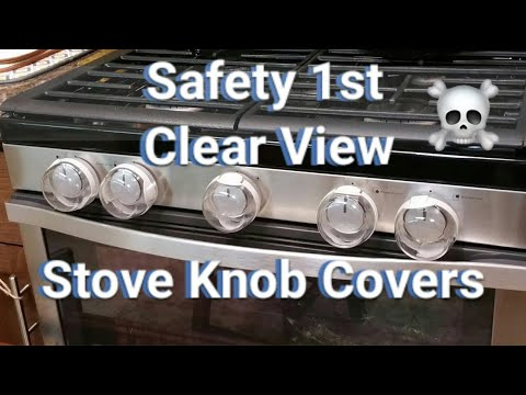 Safety 1st Clear View Stove Knob Covers, 5 Count Review & Install