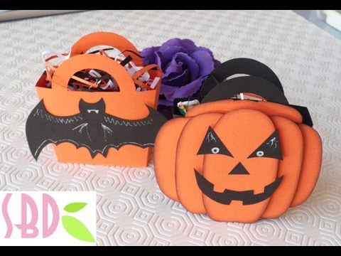 Tutorial scrapbooking: Scatolina porta dolcetti di Halloween - Sweets holders