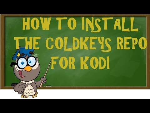 KODI LESSONS-HOW TO INSTALL THE COLDKEYS REPO