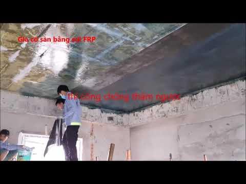 gia cố sàn dầm cột bằng sợi FRP