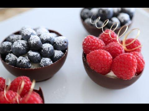 cestini al cioccolato - video ricetta