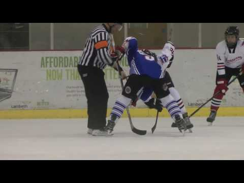 Peterborough Phantoms v Streatham U18s Ice hockey Match Video 4/2/2017