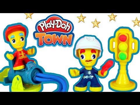 Play Doh Town • Strażak i Policjant • Przyjacielska Pomoc • bajki i kreatywne zabawki