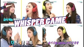 Video Red Velvet + Twice - Best of Whisper Challenge/Shout in Silence Game [Weekly Idol] Part 2 MP3, 3GP, MP4, WEBM, AVI, FLV Januari 2019
