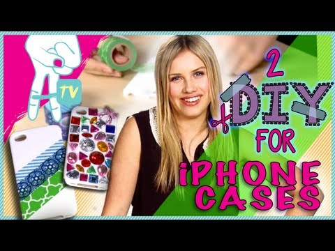 case - Why buy an expensive iPhone case when you can just make your own with gems and washi tape! Gracie Dzienny shows you how to bling out your plain iPhone case u...