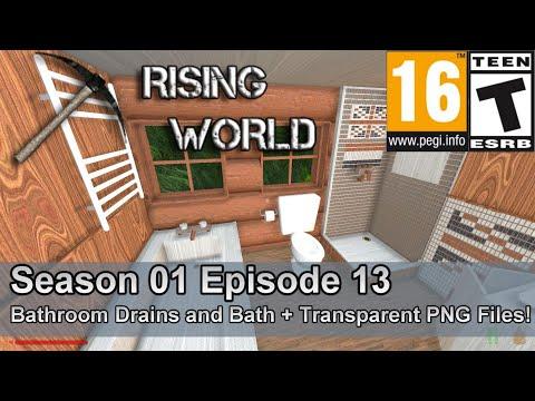 Rising World (Season 01 Episode 13) Bathroom Drains and Bath + Drain Transparent PNG!