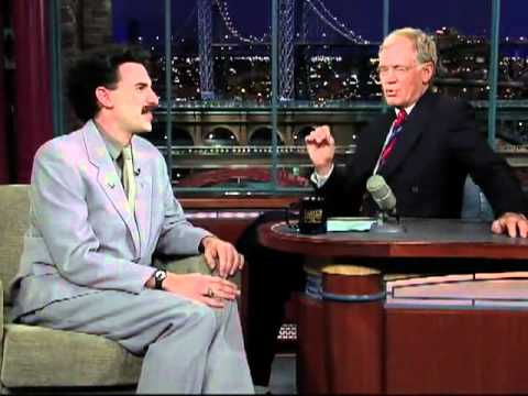 Collection - Sacha Baron Cohen on Late Night TV