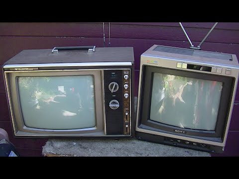 1973 packard bell nec hybird color television and sony kv122