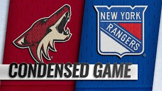 12/14/18 Condensed Game: Coyotes @ Rangers by NHL