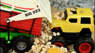 Toy Cars Raced in the roads & Crashed  Video For Kids