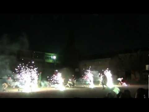 2012 葉かげのつどい 花火 開進第四小学校 (開四小)
