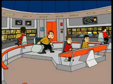 Family Guy - Captain Kirk and USS Enterprise