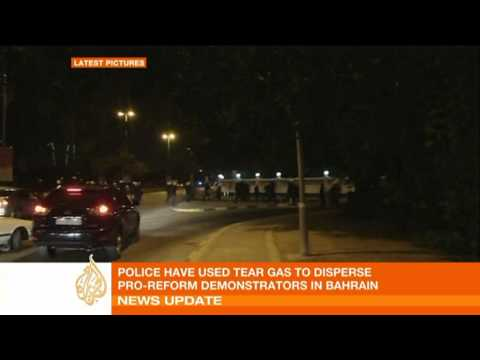 Police attack protesters in Bahrain