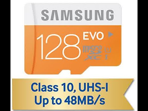 Samsung 128GB EVO Micro SDXC up to 48MB/s with Adapter