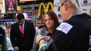 TRU TV - HARDCORE PAWN & LIZARD LICK TOWING REPO MAN STARS IN TIMES SQUARE, MANHATTAN IN NEW YORK.